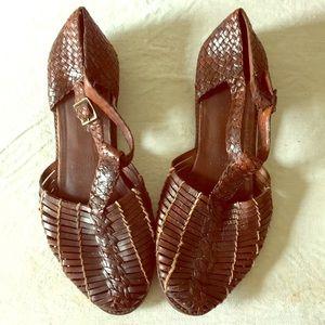 Vintage Cole Haan T-Strap Fisherman Shoes size 10